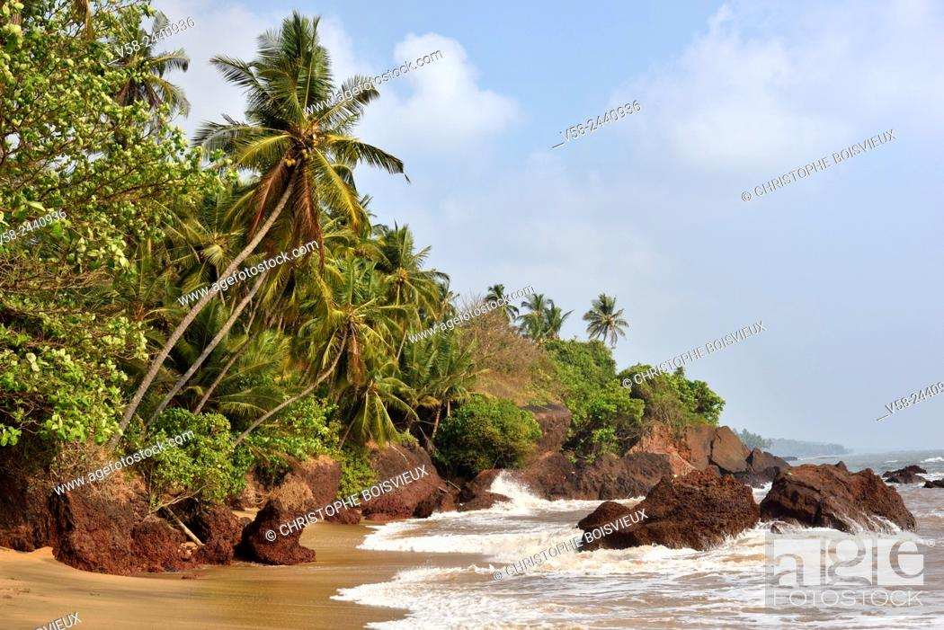 Stock Photo: India, Kerala, The Lakshadweep Sea near Kannur.