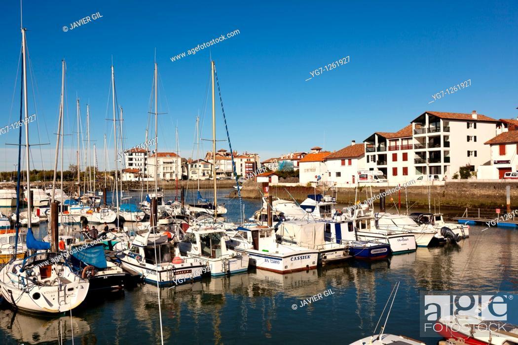 Stock Photo: Port of Saint-Jean de Luz, Aquitaine, France.
