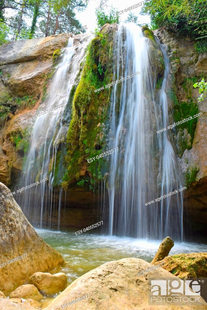 Stock Photo: Seven waterfalls of Campdevanol, Girona province, Spain.