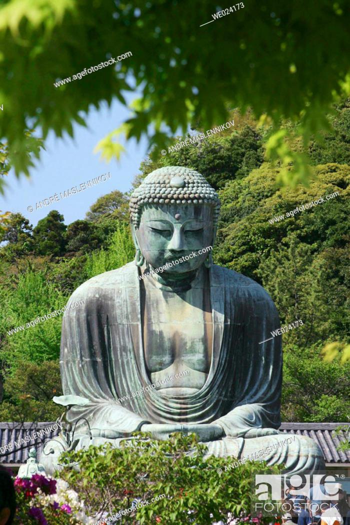 Stock Photo: The Daibutsu (bronze Great Buddha). Kamakura. Japan.