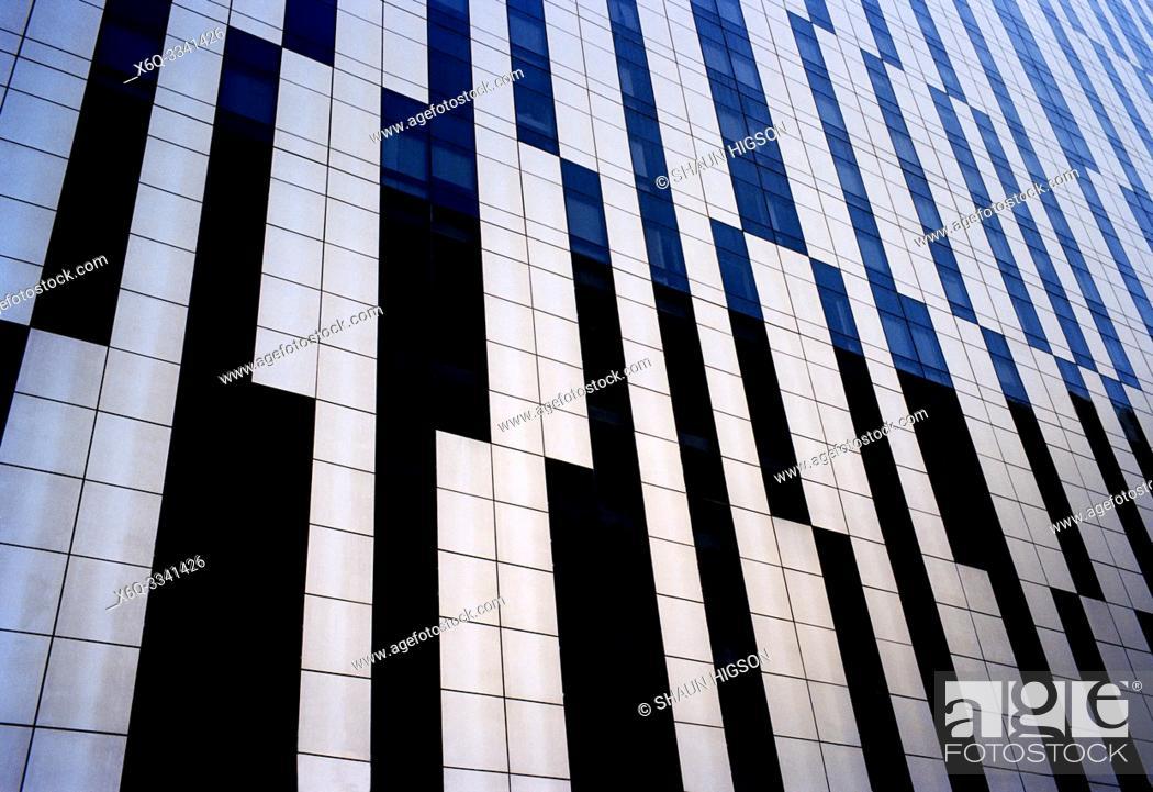 Stock Photo: Skyscraper in Manila in Luzon Metro Manila in the Philippines in Southeast Asia Far East.