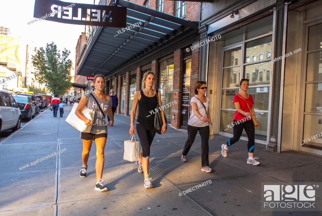 New York City, NY, USA, People Walking, Clothing Stores ...