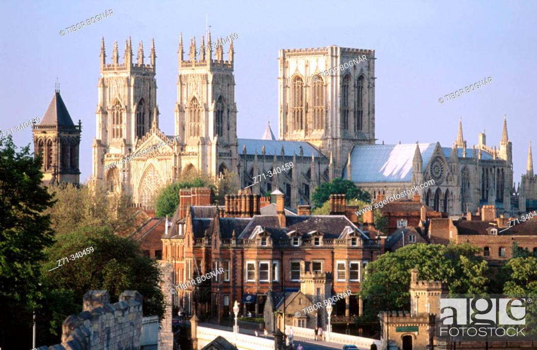 Stock Photo: Minster (Cathedral). York. England. UK.