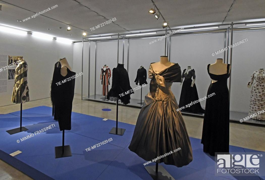 Stock Photo: A view of Tirelli Costumi at 'Romaison 2020' exhibition featuring archives and creations from Rome's foremost costume design studios , Ara Pacis Museum, Rome.