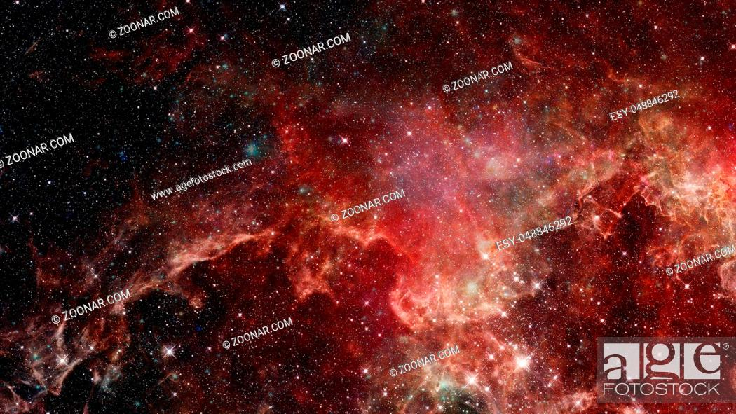 Stock Photo: Universe filled with stars, galaxy and nebula. Elements of this image furnished by NASA.