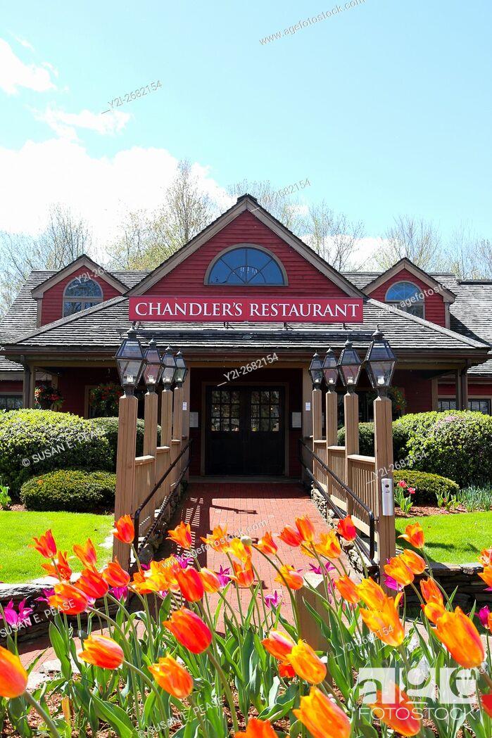 Stock Photo: Chandler's Restaurant, South Deerfield, Massachusetts, United States, North America.