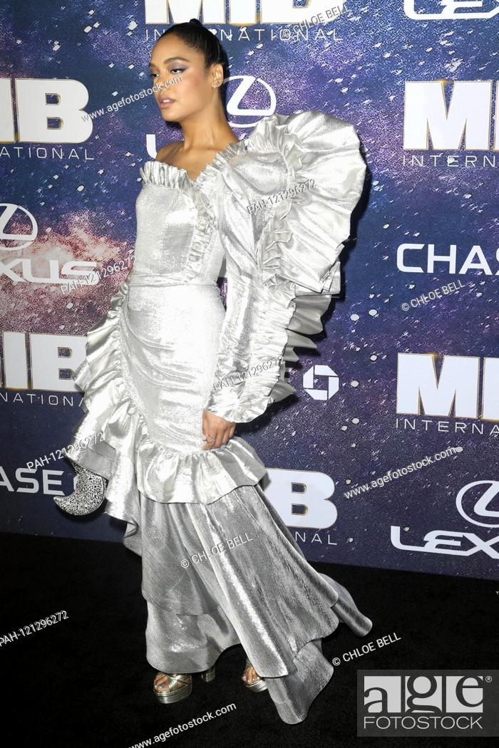 Stock Photo: Tessa Thompson at the world premiere of the movie 'Men in Black: International' at AMC Loews Lincoln Square 13. New York, 11.06.2019   usage worldwide.