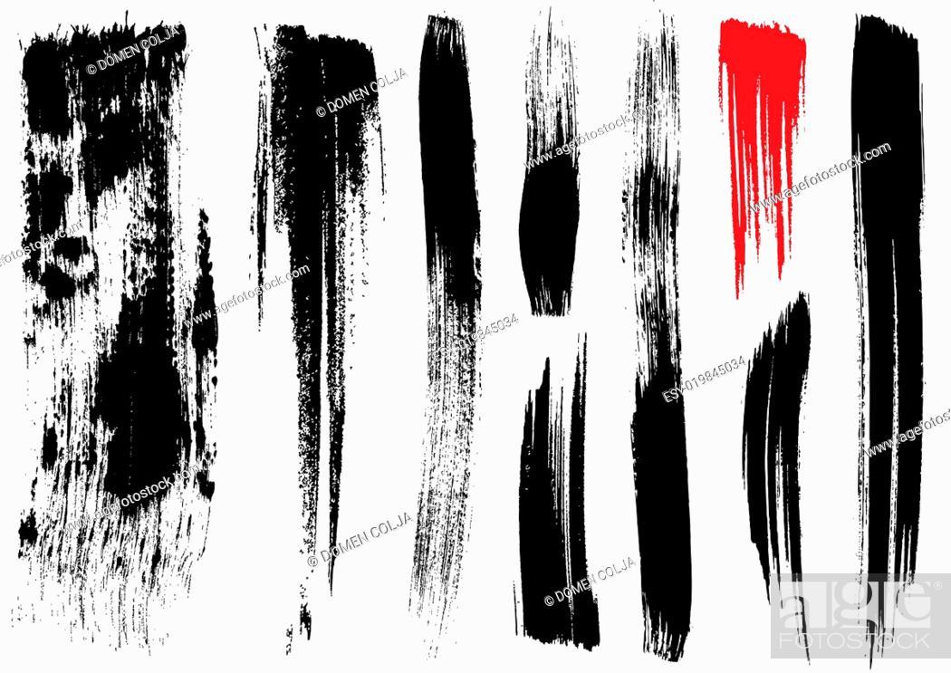 Stock Photo: brush stroke textures.
