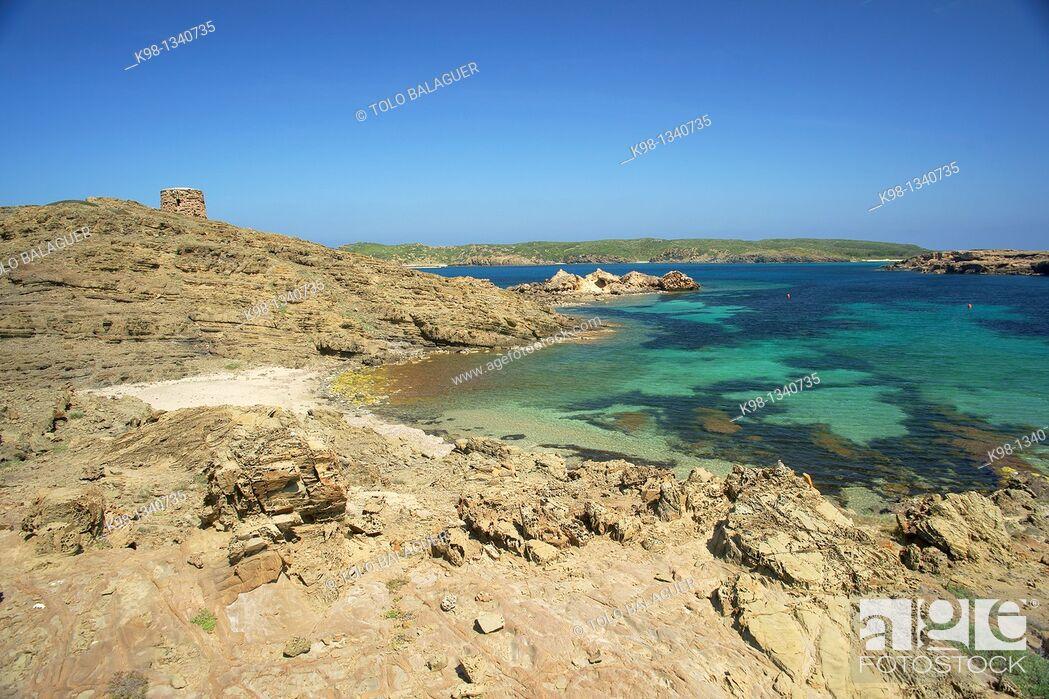 Imagen: Cala Tamarells, Natural Parc s'Albufera des Grau Menorca Biosphere Reserve Balearic Islands Spain.