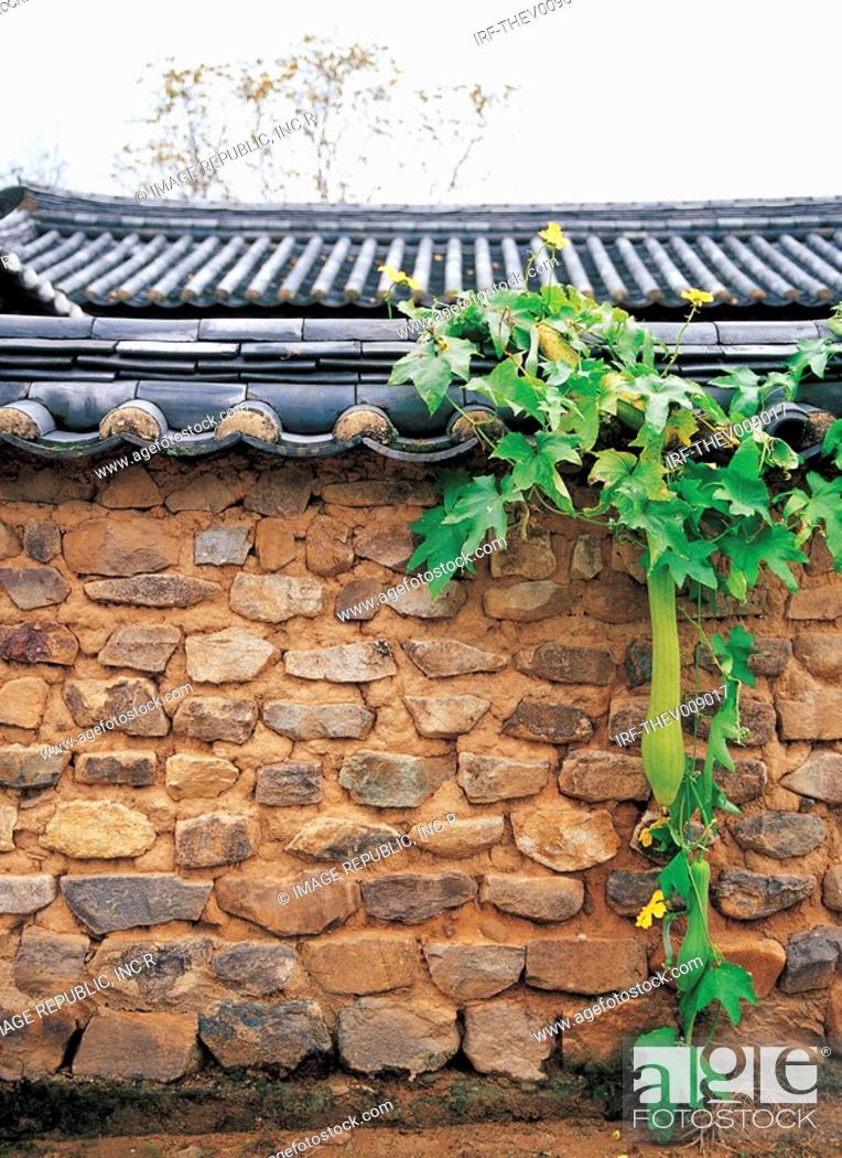 Stock Photo: Korean traditional architecture, fence.