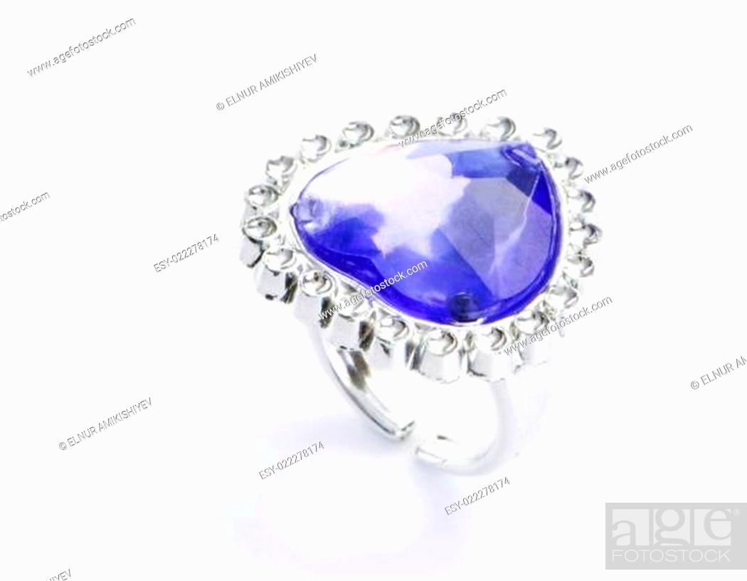 Stock Photo: Jewellery ring isolated on the white background.