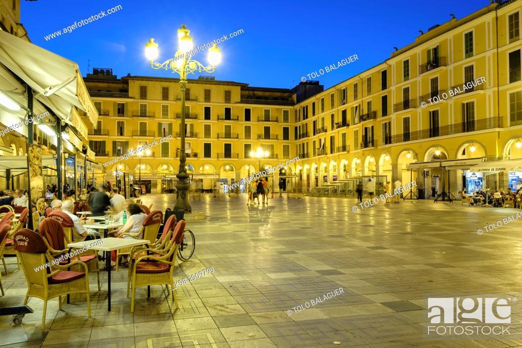 Stock Photo: plaza mayor, Palma, Mallorca, balearic islands, Spain.