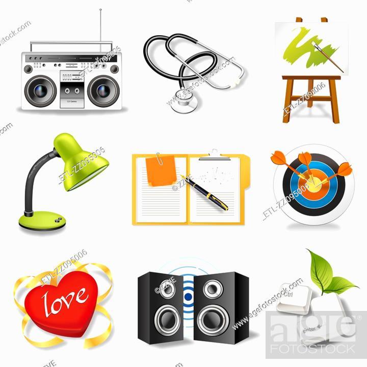 Stock Photo: Icon set.