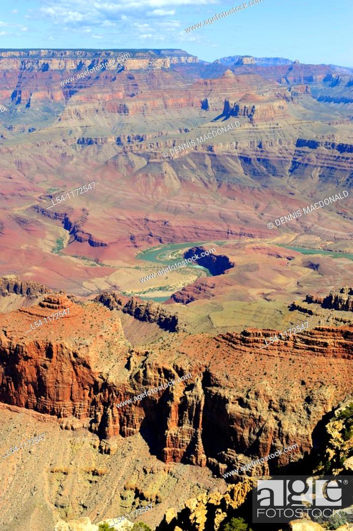 Stock Photo: South Rim Grand Canyon National Park Arizona.