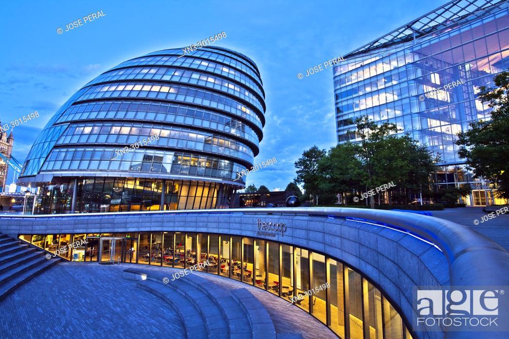 Stock Photo: London City Hall, City Hall, More London, Riverside Southwark, London, England, UK, United Kingdom, Europe.