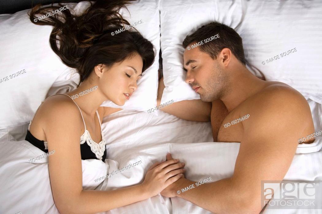 Stock Photo: A couple sleeping.