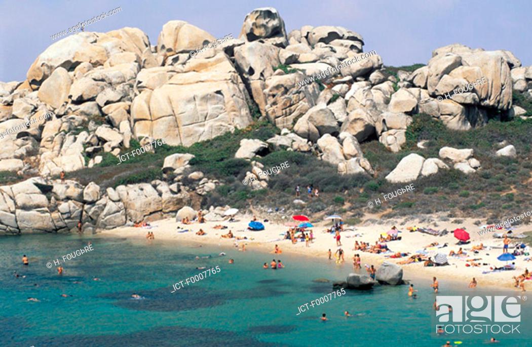 Stock Photo: France, Corsica, Bonifacio, Lavezzi Island.