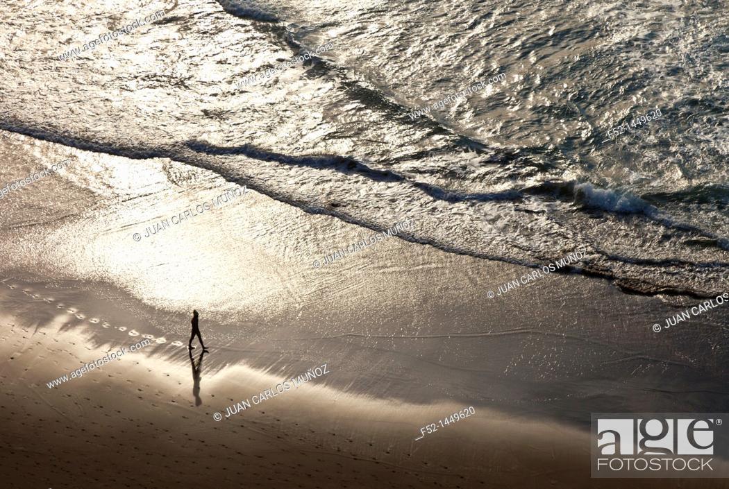 Stock Photo: Zumaia beach, Zumaia, Gipuzkoa, Basque Country, Bay of Byscay, Spain.