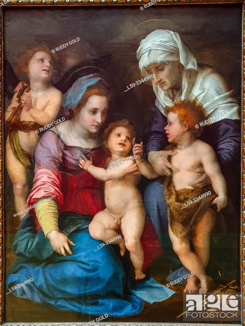 Stock Photo: 'The Holy Family', 1514/15, Andrea del Sarto (1486-1530).