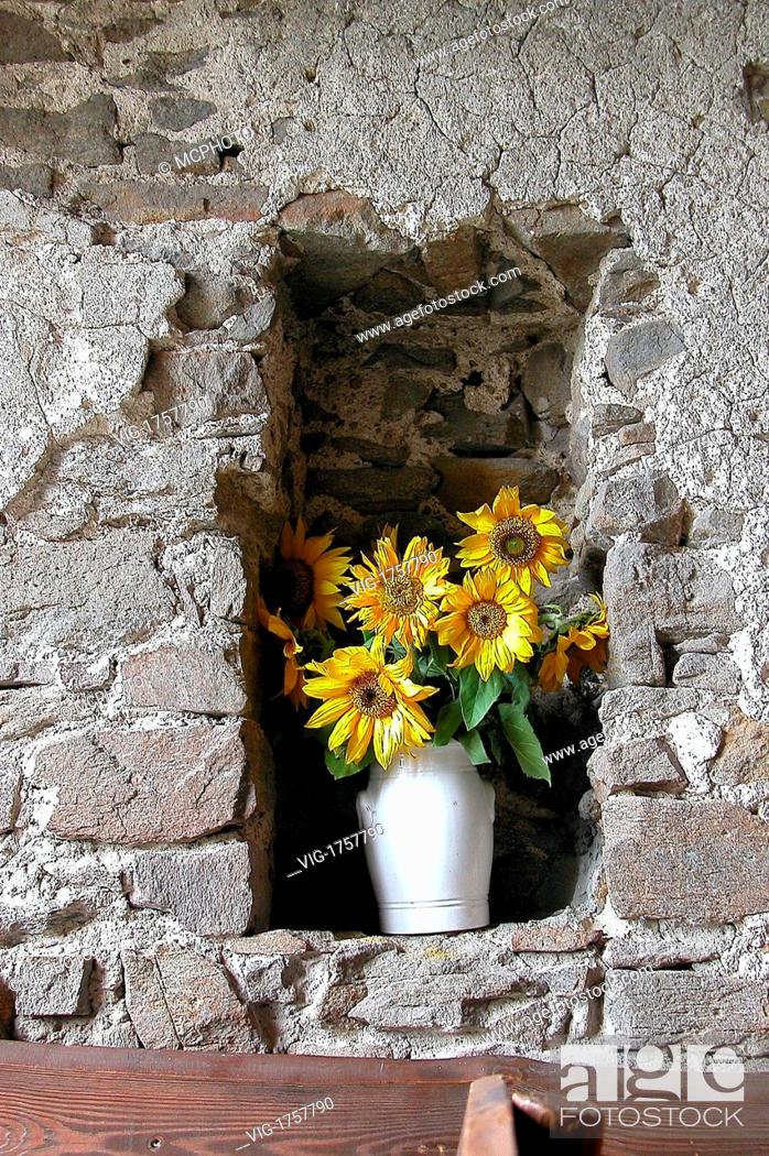 vase of flowers in a niche /alcove in the wall - 01/01/2009, Stock Flower Vase For Niches on bud vases, graveside vases, us metalcraft vases, floral vases, niche wall art, cemetery vases, niche flower holders,