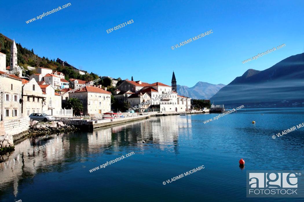 Stock Photo: Perast village near Kotor, Montenegro.