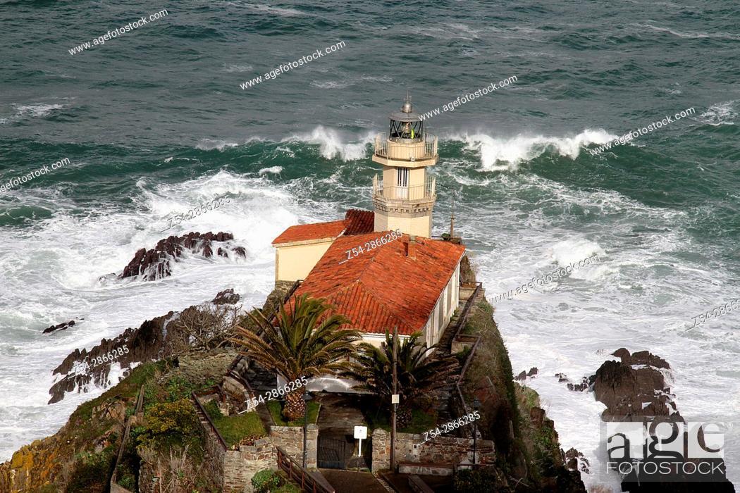 Stock Photo: Lighthouse Cudillero, Asturias Spain.