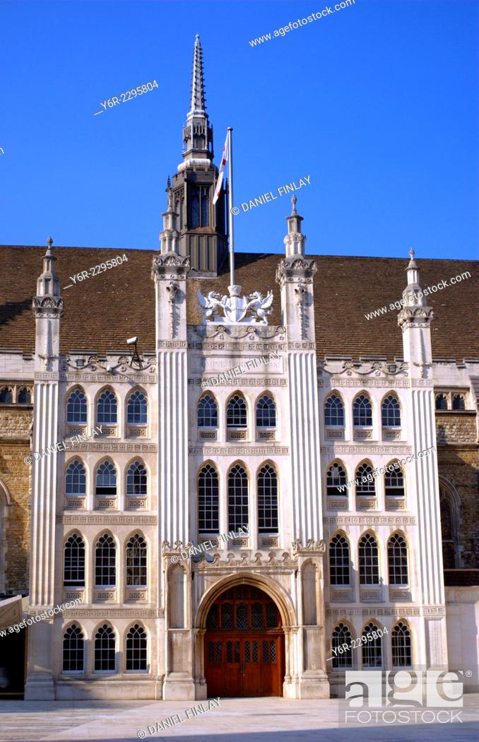 Stock Photo: The City of London Guildhall on a sunny day in England.