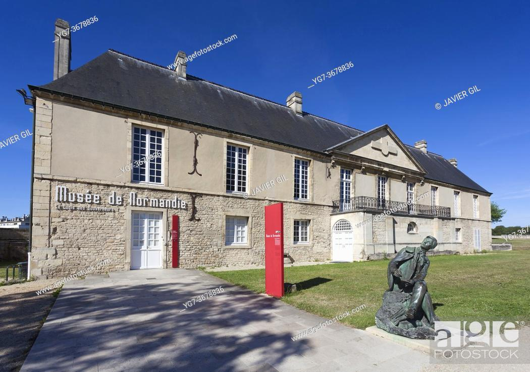 Stock Photo: Museum of Normandy, Caen, Normandy, France.