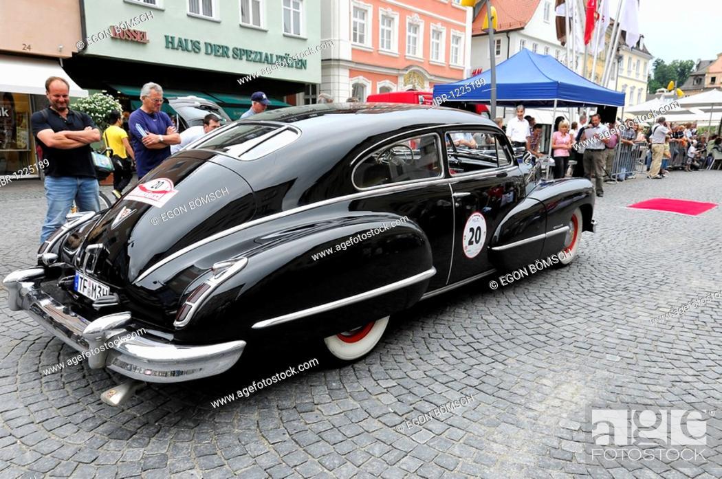 Stock Photo: Cadillac Club Coupe Series 62, built in 1942, 2000 km durch Deutschland 2009 rally, 2000 km through Germany 2009, Schwaebisch Gmuend, Baden-Wuerttemberg.