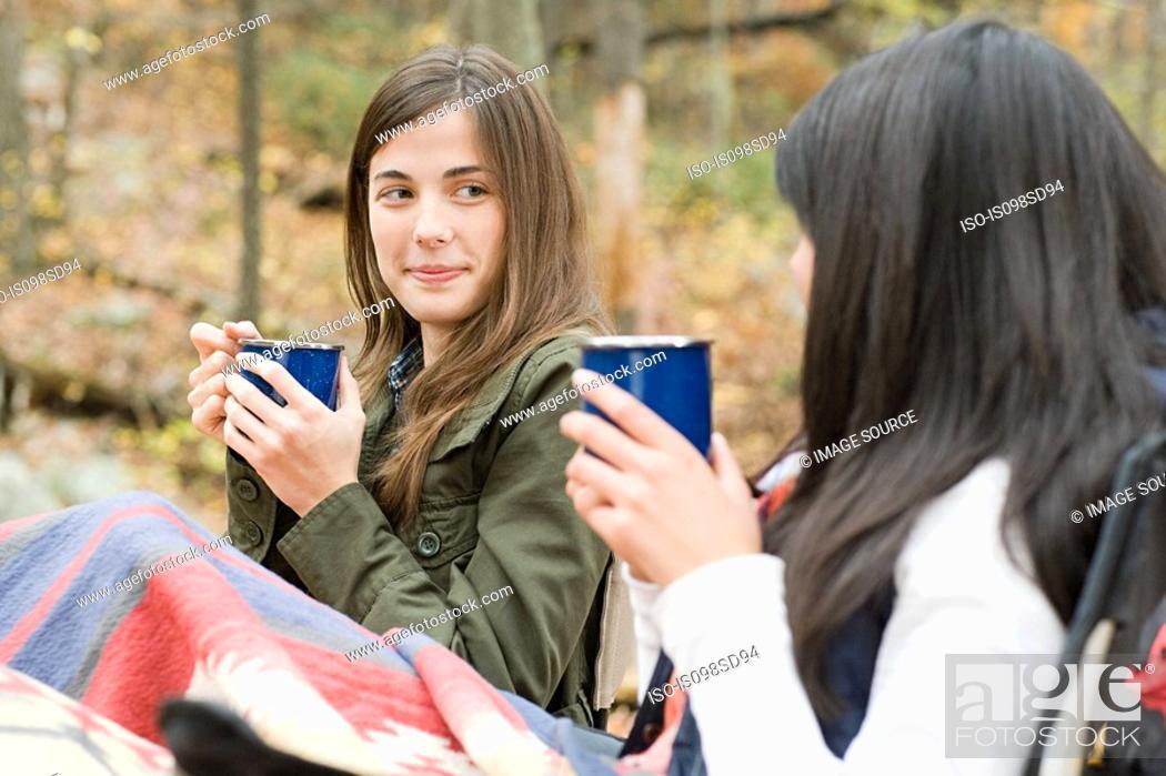 Stock Photo: Woodland Camping.
