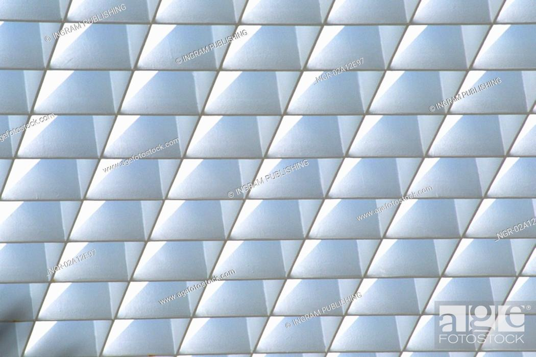 Stock Photo: Low angle view of a pattern on a ceiling.