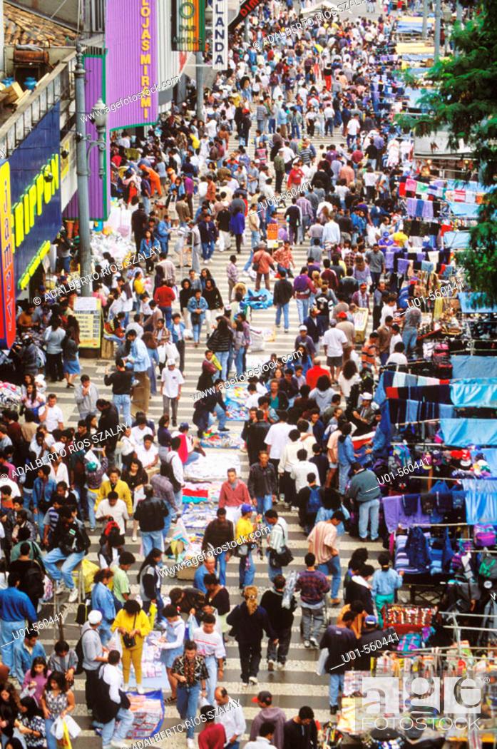 Stock Photo: Street scene, Sao Paulo, Brazil.