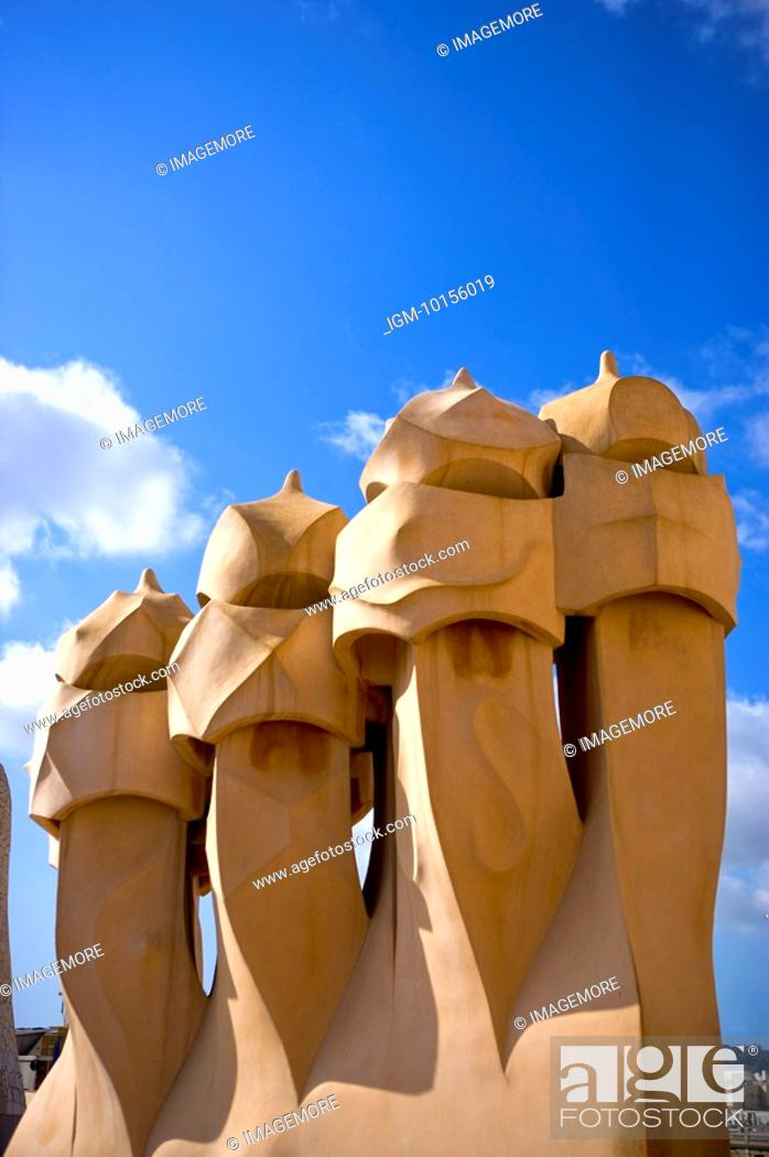 Stock Photo: Spain, Catalonia, Barcelona, Casa Mila.