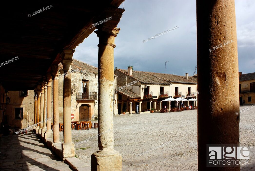Stock Photo: Pedraza, Segovia Province, Castile-Leon, Spain.