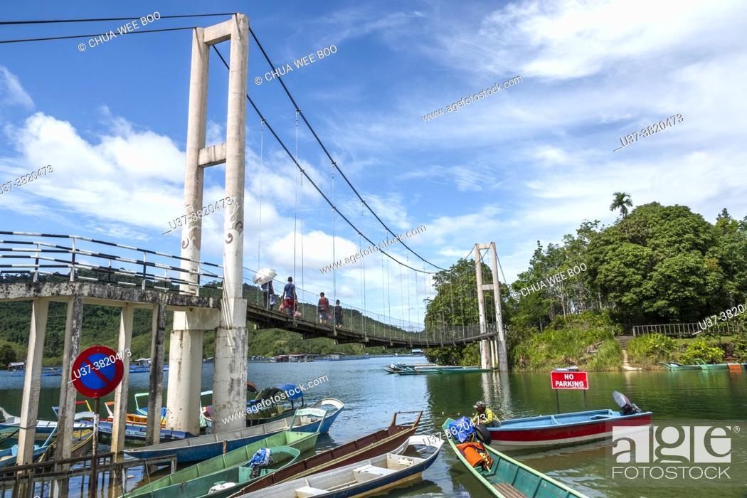 Stock Photo: Lake Batang Ai, Batang Ai National Park, Sarawak, Malaysian Borneo, East Malaysia,.