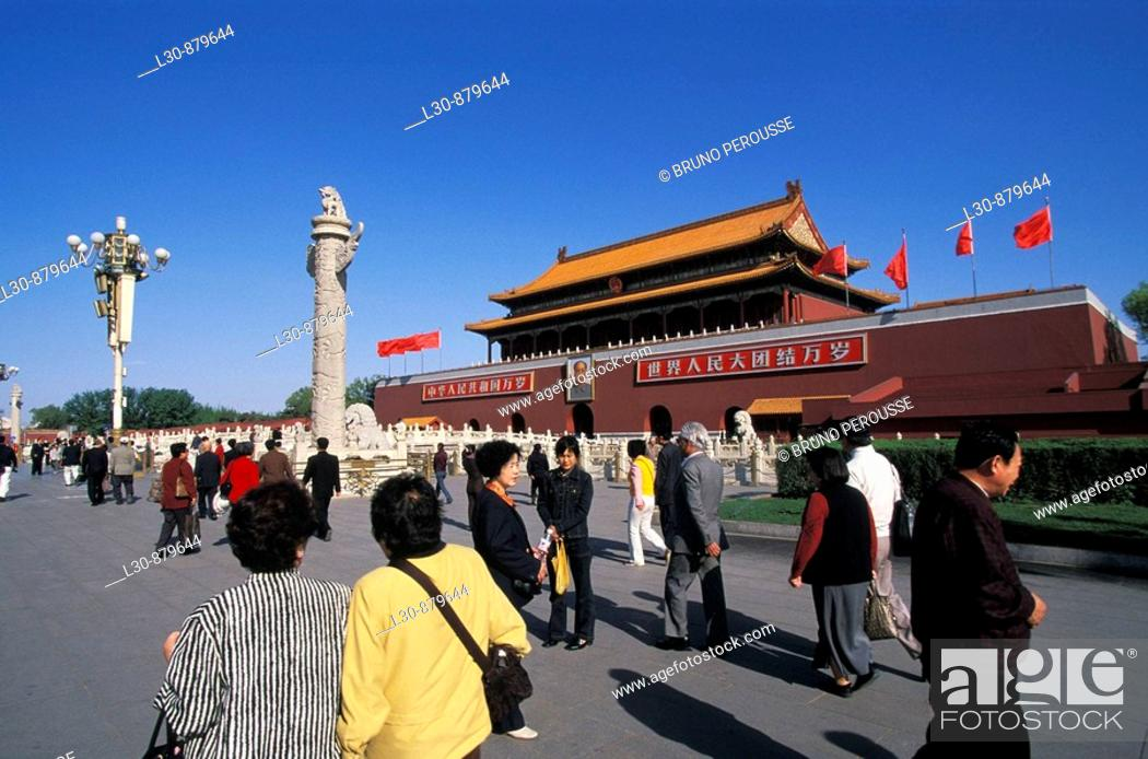 Stock Photo: Gate of Heavenly Peace, Forbbiden City, Tiananmen square, Beijing, China.