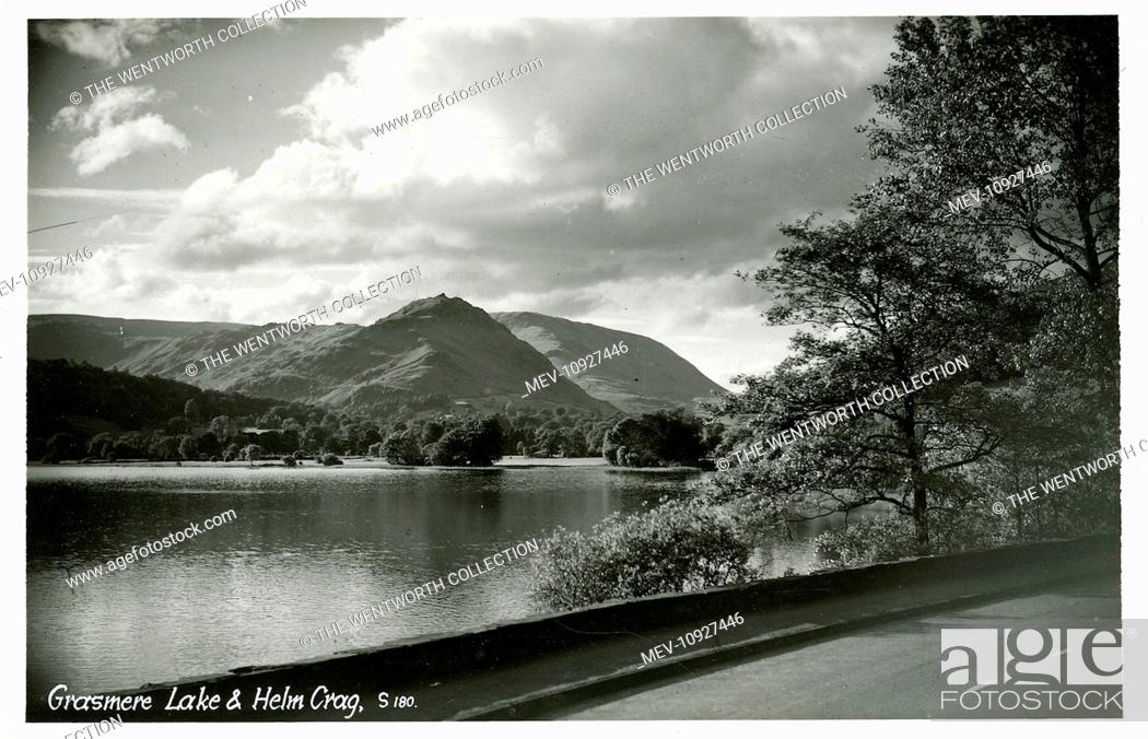 Stock Photo: Scenic View, Grasmere, near Ambleside, Cumbria, England. Showing Helm Crag.