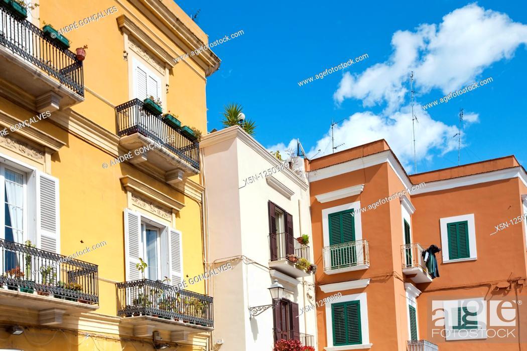 Stock Photo: Streets of Bari, Italy.