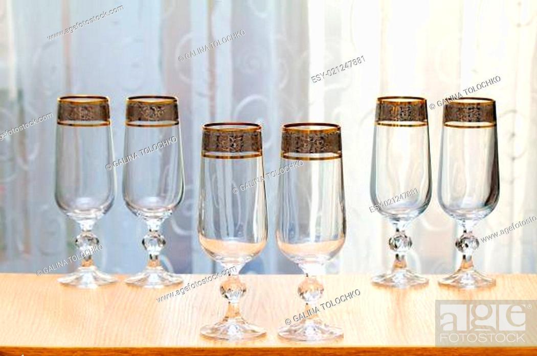 Stock Photo: Six beautiful glass of the glass.