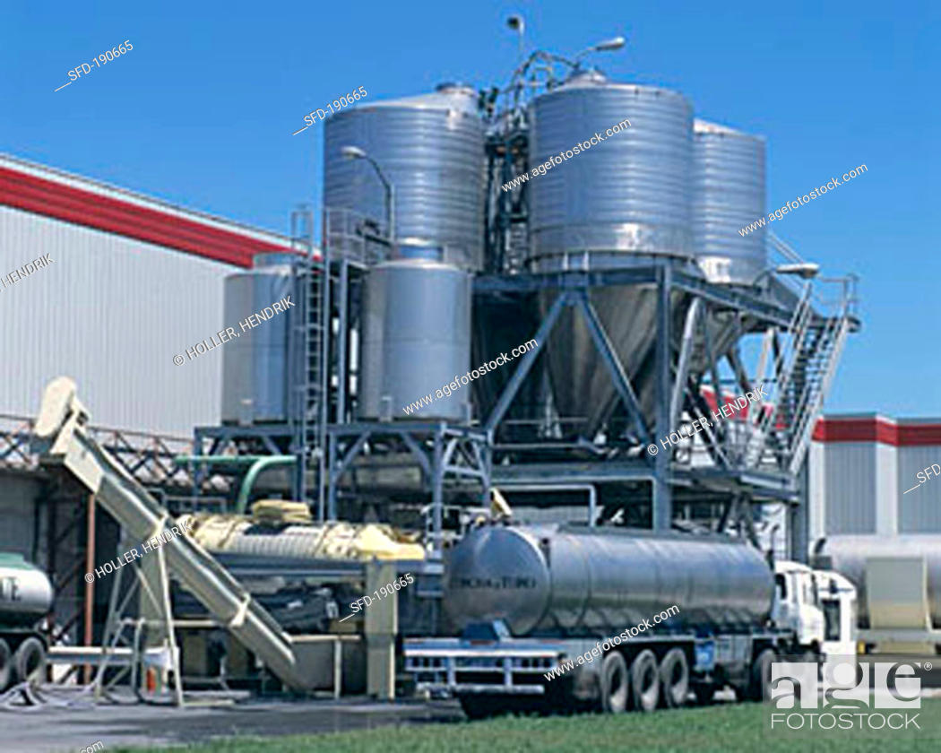 Stock Photo: Stainless steel tanks, Concha y Toro Winery, Santiago, Chile.