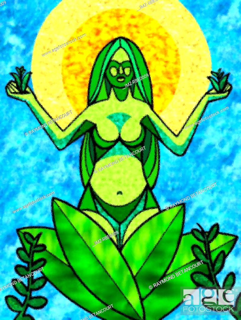 Stock Photo: A graphical representation of mother earth.