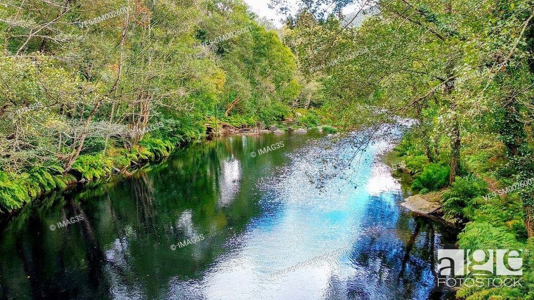 Imagen: Eo river, between Asturias and Galicia, near San Tirso de Abres village. Spain.