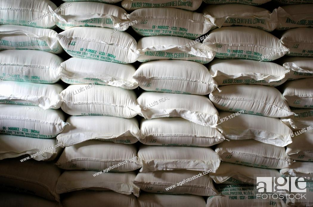 Stock Photo: Store, India, Asia, Asia, Flour Sacks.