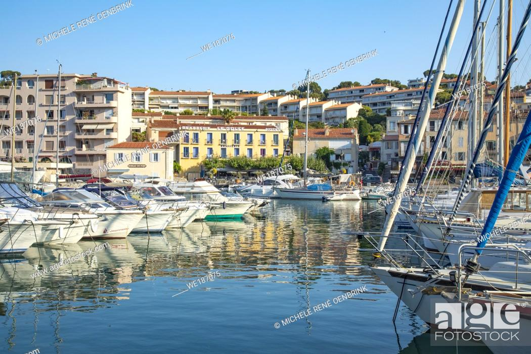 Stock Photo: Mediterranean fishing port of Cassis, France, .