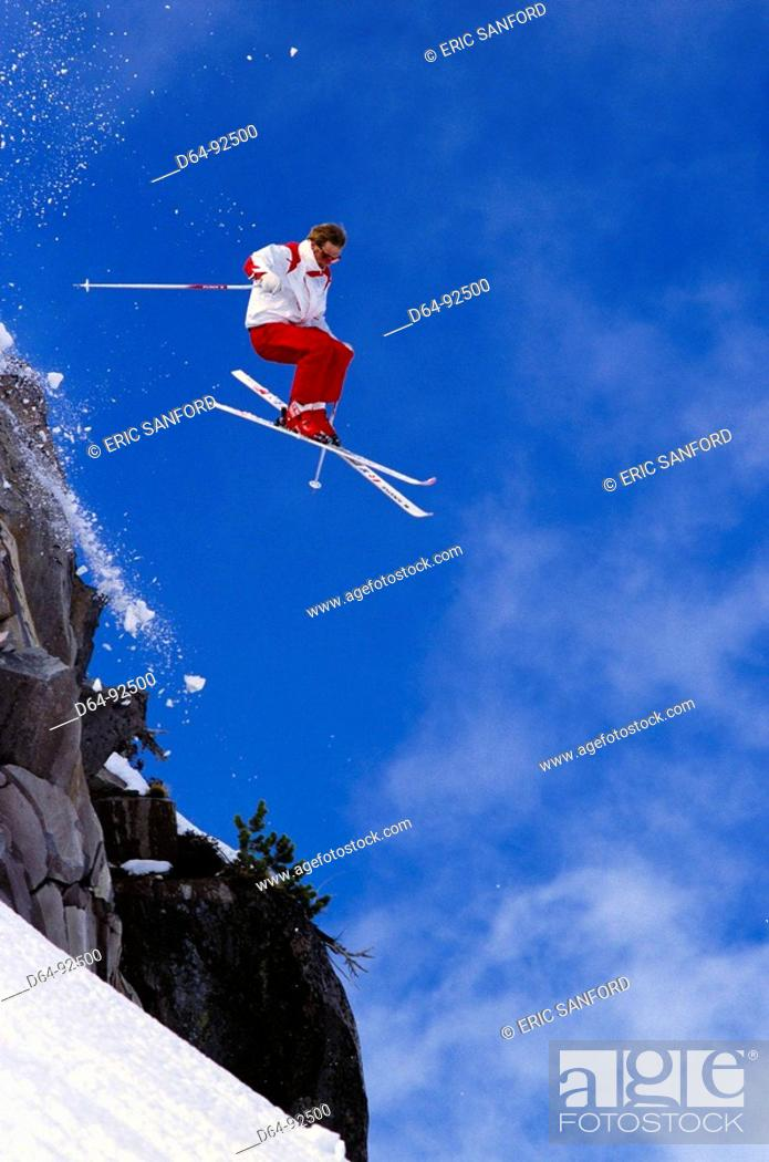 Stock Photo: Ski. Mt. Hood, Oregon, USA.