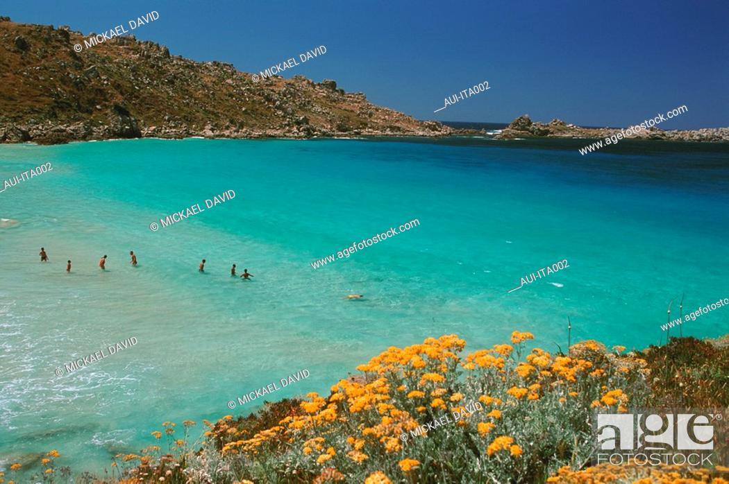 Stock Photo: Italia - Sardinia - Bathing.