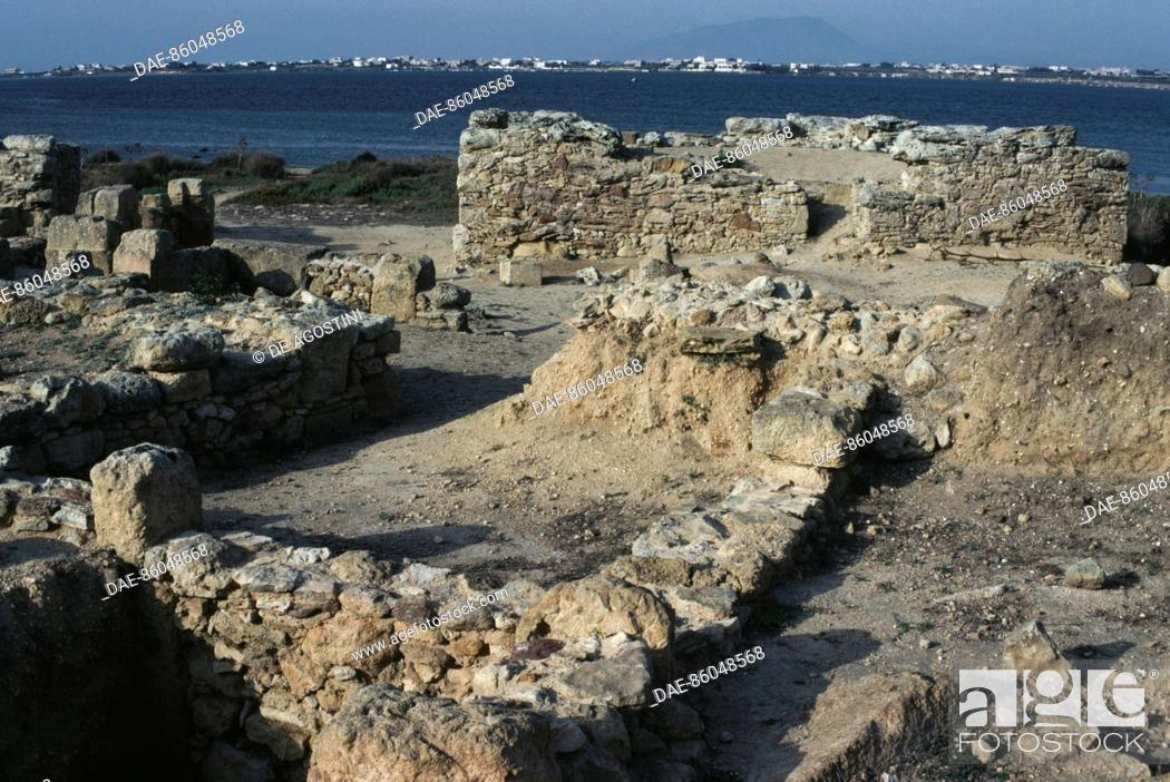 Stock Photo: Ruins of the Tophet (Punic open-air sanctuary) of Motya, Sicily, Italy. Punic civilization, 6th-5th century BC.