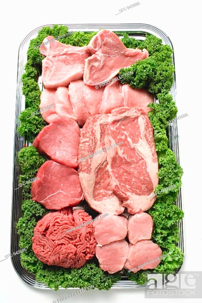 Stock Photo: Various types of meat for pan-frying.