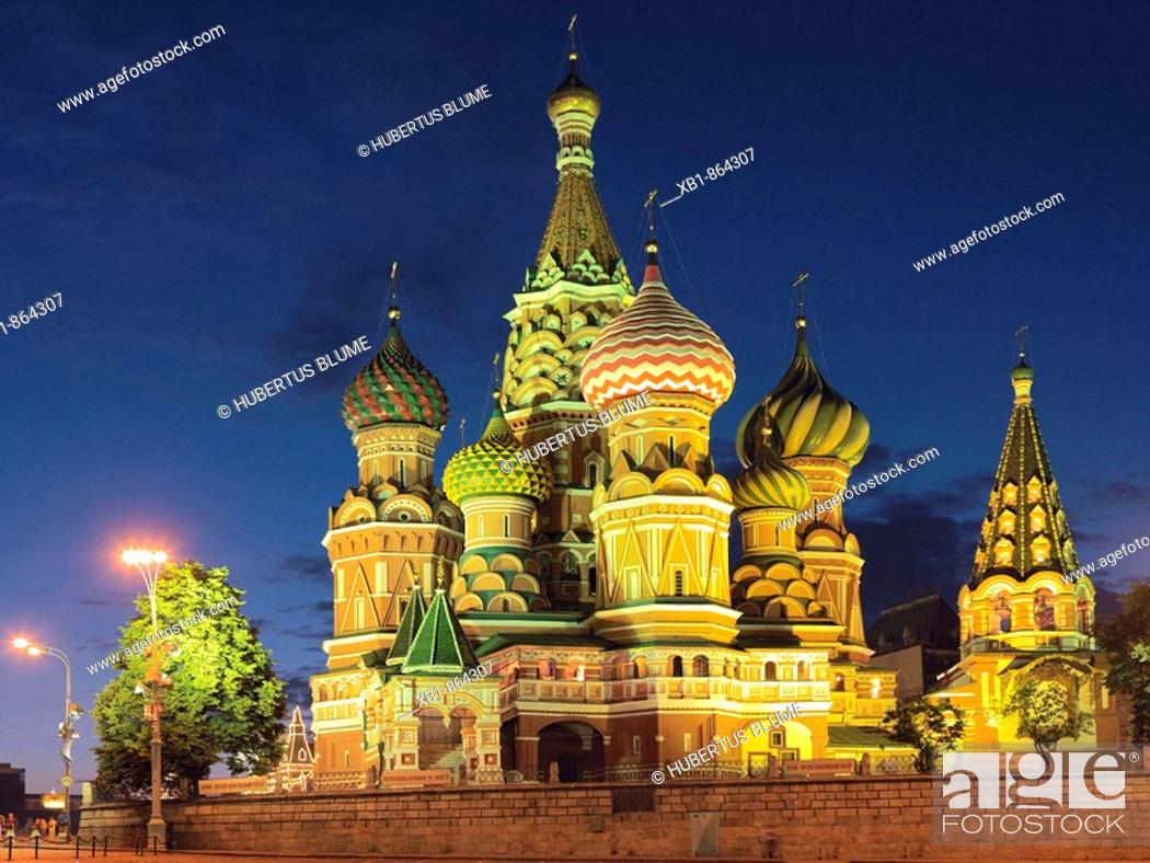 Stock Photo: Cathedral of the Intercession, or Cathedral of St. Basil the Blessed, Red Square, Moscow, Russia.