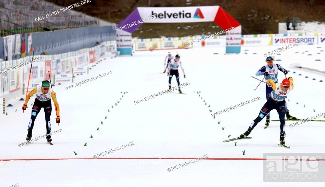 Imagen: 04 March 2021, Bavaria, Oberstdorf: Nordic skiing: World Championships, combined, individual, large hill/10 km, men, cross-country.